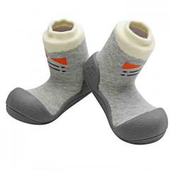 babyschoenen Tie grijs