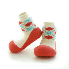 Kinderschoenen.Argyle.Rood.02
