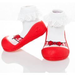 Attipas Ballet-Red-  ergonomische Baby Lauflernschuhe, atmungsaktive Kinder Hausschuhe ABS Socken Babyschuhe Antirutsch 22.5