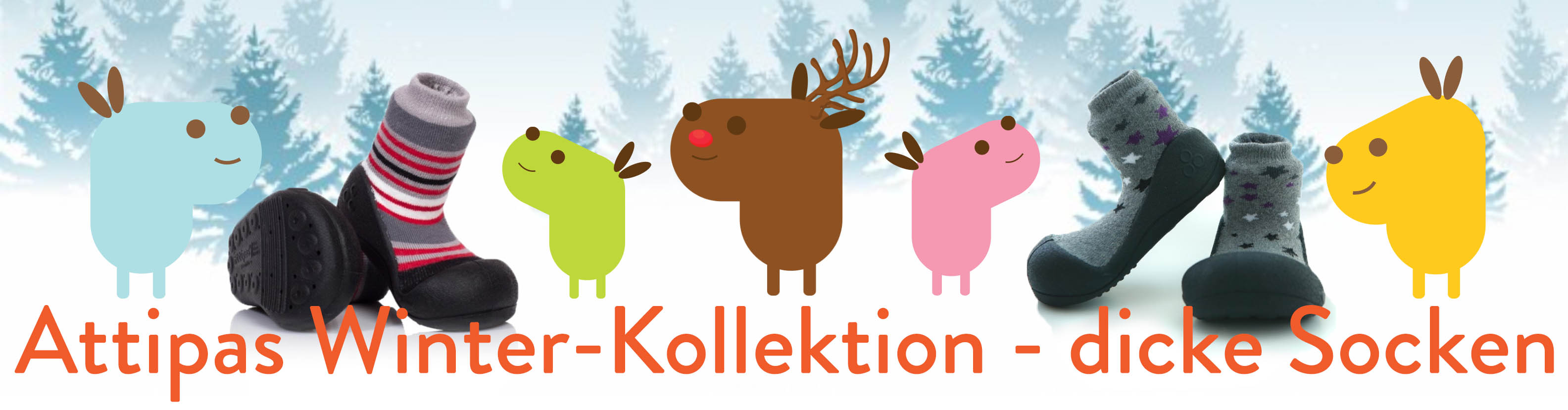 Attipas Winter-Kollektion - dicke Socken