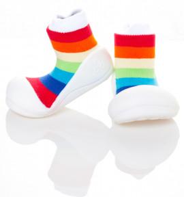 Babyschoenen.Rainbow.Wit.01