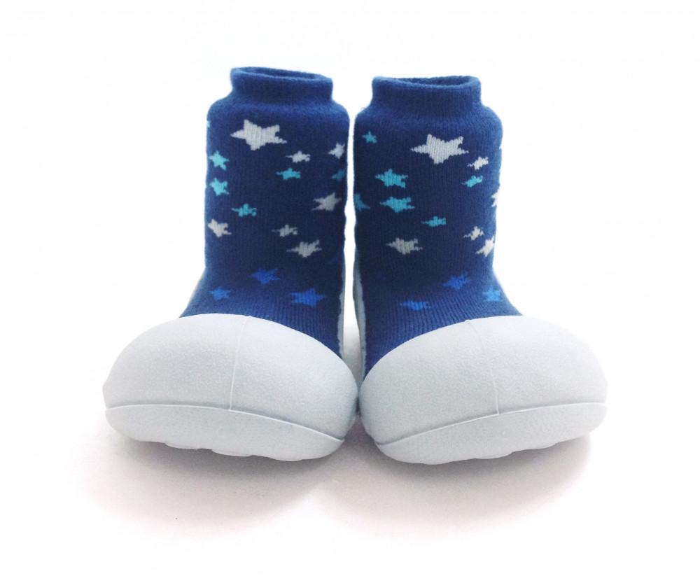 Attipas Twinkle Blau ergonomische Baby Lauflernschuhe, atmungsaktive Kinder Hausschuhe ABS Socken Babyschuhe Antirutsch