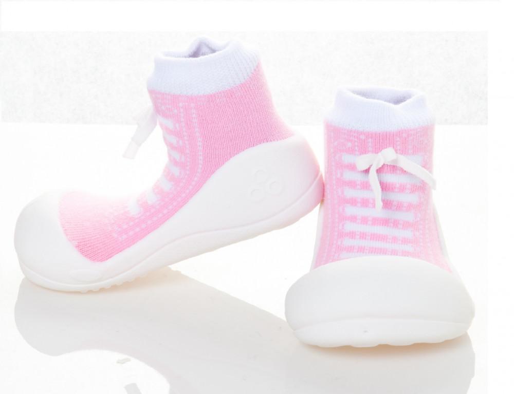 Attipas Sneakers Rosa ergonomische Baby Lauflernschuhe, atmungsaktive Kinder Hausschuhe ABS Socken Babyschuhe Antirutsch