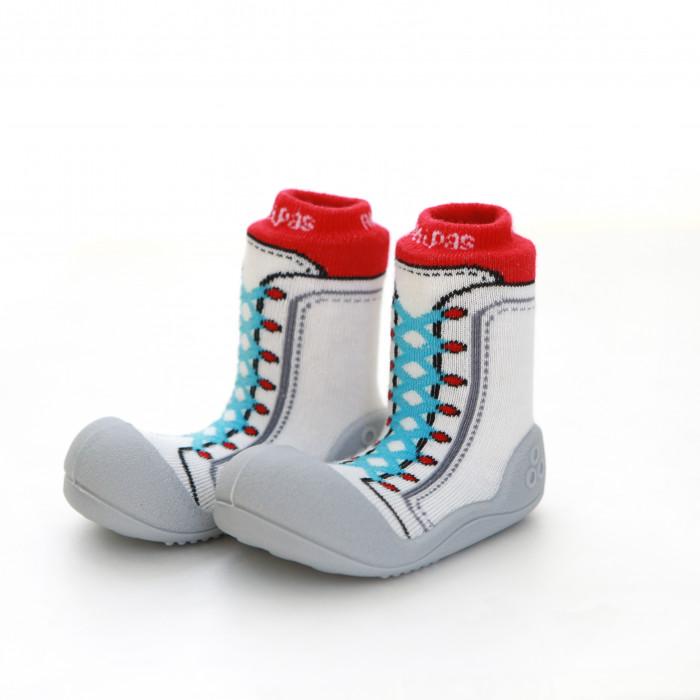 Attipas New Sneakers Rot ergonomische Baby Lauflernschuhe, atmungsaktive Kinder Hausschuhe ABS Socken Babyschuhe Antirutsch